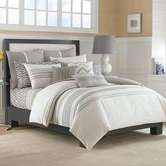 Nautica® Margate Duvet Cover Set in Grey - BedBathandBeyond.com