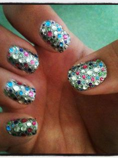 No sparkles on your prom dress? Wear the bling on your nails!