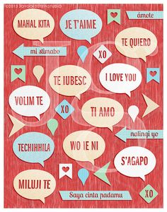 How to say i love you in different languages love is in the i love you in different languages poster stopboris Image collections