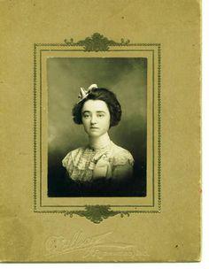 jessie coggeshall putnam, my great-grandfather's sister, richmond, indiana