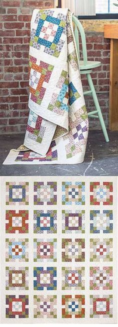 one patch garden quilt - Google Search