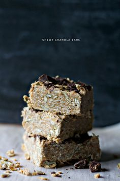 chewy granola bars. must try these!