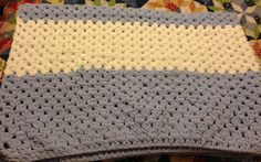 My blue and white blanket for my Goddaughter's baby