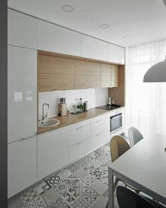 Contemporary Kitchen Inspiration, Contemporary Kitchen Cabinets, White Kitchen Cabinets, Contemporary Kitchens, Contemporary Bedroom, Modern Kitchens, Bedroom Modern, Kitchen Cabinetry, White Kitchen Decor
