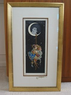 James Christensen - Man Who Came Down from the Moon Etching