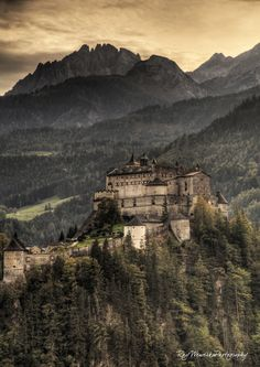 "elfenhain: "" heyfiki: "" Hohenwerfen Castle, Austria Hohenwerfen Castle is located in the Salzach valley just about 40 kilometers south of Salzburg, Austria The castle was built around the end of the 11th century. It is a foritfaid castle standing as..."