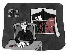 Immagino l'esperienza post mortem di #Lovecraft come una cosa eccezionale, un livello a cui noi non accederemo.