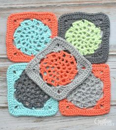 Crochet Lace Square. Free Pattern. This free lace square crochet pattern is fun and easy to work up. It would make a great dishcloth, or afghan square for a lovely throw.  They would even look great stitched together to make a scarf.