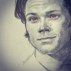 I'm sorry I didn't post Sam's birthday on time. Happy two days later birthday to our to our giant little brother Sammy ❤️ . Credit to 🏕️ . Supernatural Drawings, Supernatural Episodes, Supernatural Fan Art, Winchester Brothers, Sam Winchester, Late Birthday, Markova, Jared Padalecki, True Beauty