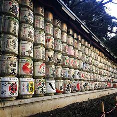 Sake barrels . . . #sake#alcohol#japan#asia#tokyo#meijijingu#travel#holidays#travelblogger#traveljapan#travelasia#potd#scenery#tradition#shrine#shinto#nihonshu#travelgoals