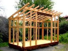 Image result for single pitch roof cabin plans