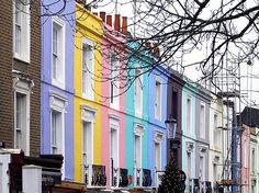 Portobello Road, Notting hill Notting Hill London, London City, England Uk, London England, English Estates, London Places, House Paint Exterior, Dream City, Paint Colors For Home