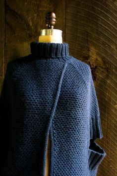 City Cape | The Purl Bee | simple ad stunning, so many variations could be made from this and the pattern is free!
