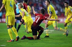 Emre Mor (C) of Turkish National Team in action during the UEFA 2018 World Cup Qualifying match between Turkey and Ukraine at Konya Metropolitan Municipality Stadium in Konya, Turkey on October 06, 2016. The match ended 2-2 as a Turkish penalty levelled the scores in the 81st minute.