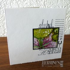 Alcohol ink card made by Hermine Koster