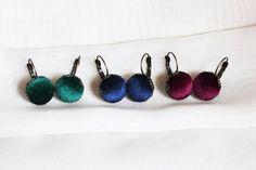 Velvet earrings Handmade earrings Red earrings Girls earrings | Etsy Emerald Green Earrings, Red Earrings, Girls Earrings, Earrings Handmade, Women's Earrings, Handmade Jewelry, Unique Jewelry, Bold Rings, Beaded Rings