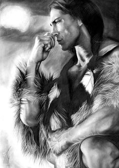Pencil drawing is an art form that has been prevalent in the creative world from years. Long back in times when camera was yet to be invented, pencil drawing was very popular among people. Native American Print, Native American Wisdom, Native American Pictures, Native American Artwork, Native American Beauty, American Indian Art, Native American History, American Indians, American Pride