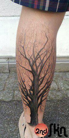 tree calf tattoo - Google Search