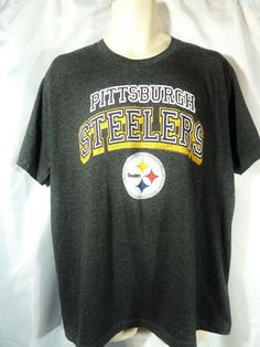 Pittsburgh Steelers T Shirt XL Dark Gray NFL Apparel