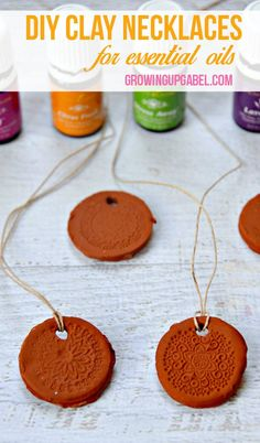 Take your favorite essential oils with this super easy craft - clay necklaces! This simple craft is inexpensive and perfect for kids!
