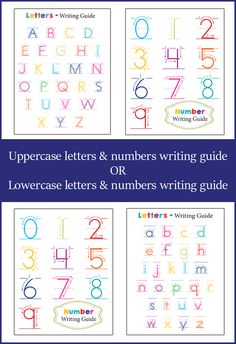 Teach your child how to write their letters and numbers with this FREE Letter and Number Guide from One Beautiful Home Blog.  it is the