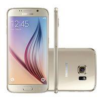 """Smartphone Samsung Galaxy S6 SMG920 32GB Dourado 4G Tela 5,1"""" Câmera 16MP Android 5.0"""