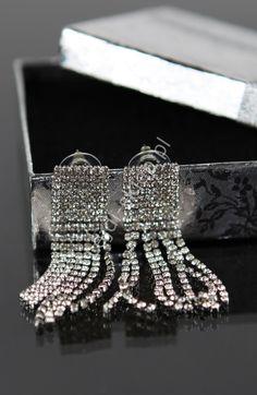 Crystal jewelry, crystal earrings, Wiszące kryształkowe kolczyki | wieczorowe kolczyki, kolczyki ślubne