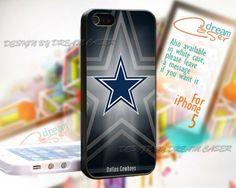 Dallas Cowboys Navy Blue Oversize Logo iPhone 5 Hard Case