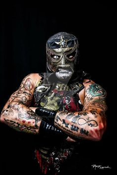 The combination of mask and makeup. Also the combination textures. Not the right color or vibe. Lucha Underground, Triple Aaa, Blue Demon, Mexican Mask, Wrestling Stars, Stone Cold Steve, Wrestling Superstars, Demon Art, Steve Austin
