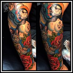 Puffin Tattoo by Sam Clark