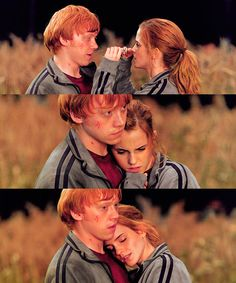 One of my favorite love stories. Ron + Hermione.