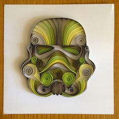You may or may not be familiar with the art form called quilling. Quilling is created using strips of paper rolled up or curved to create images. Star Wars Crafts, Geek Crafts, Star Wars Art, Quilled Paper Art, Quilling Paper Craft, Paper Crafts, Arte Quilling, Quilling Work, Quilling Patterns