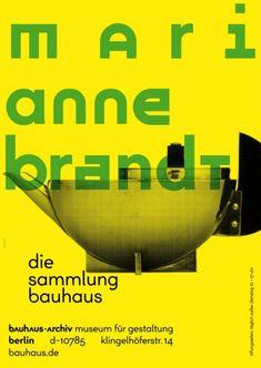Marianne Brandt - Die Sammlung Bauhaus - Bauhaus-Archiv - 2014 _ #Poster #Affiche #GraphicDesign #Bauhaus