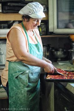 It's an incredible pleasure and privilege to spend time in the bakery as she works, tasting the crusty pizza with tomatoes and herbs, right from her garden. She tells me stories and from time to time I have to say, piano piano, per favore, piano, as she gets caught up in a memory, and her words start to tumble out far too fast. I've never eaten pizza like hers. Next summer I'm bringing our students out for breakfast before Italian lessons starts.