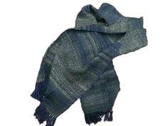 Schals - Handgewebter handgesponnener Schal aus 100% Wolle - ein Designerstück…
