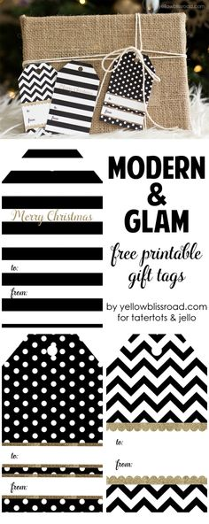 Moder Glam Free Printable Gift Tags