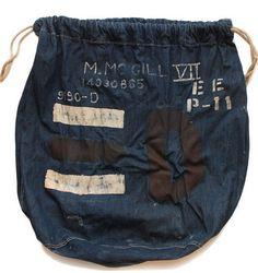 Vintage indigo shoe bag...