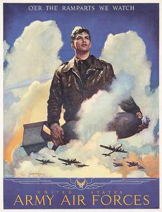 ORIGINAL American World War II Poster SCHLAIKJER AAF
