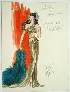 Edith Head costume sketch