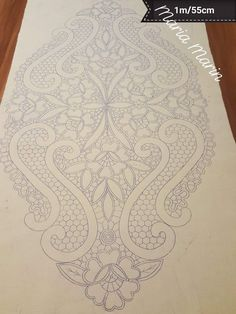 Cutwork Embroidery, Hand Embroidery Patterns, Embroidery Stitches, Embroidery Designs, Filet Crochet, Crochet Motif, Romanian Lace, Macrame Design, Point Lace