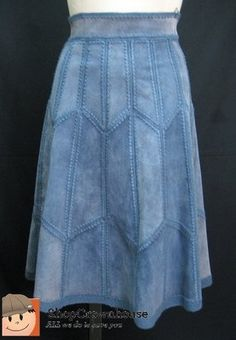 Crochet Skirts, Crochet Clothes, Denim Fashion, Look Fashion, Big Size Dress, Denim Crafts, Plus Size Maxi, Denim Patchwork, Old Jeans
