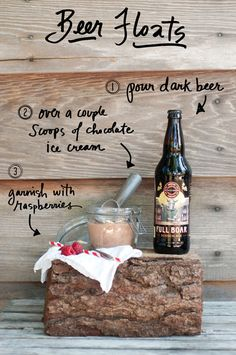 beer floats.. oh my goodness. i am already thinking of a billion other combinations... guiness and coffee ice cream!? what?!