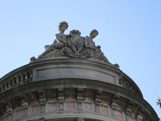 The pediment above the Drawing Room