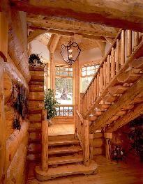 Construction de maison en bois rondin en bourgogne maison en rondin de bois anbobois fustes - Construction en rondins empiles ...