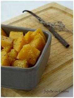 Courge betternut rôtie à la vanille et au thym