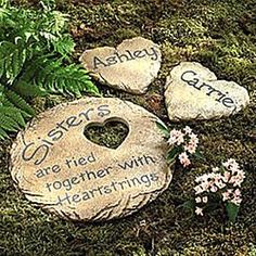 Discover personalized Birthday Gifts for Her from Personal Creations. Get fast shipping and free personalization on each and every gift! Sister Friends, Sister Gifts, Gifts For Friends, Cute Garden Ideas, Backyard Ideas, Garden Stepping Stones, Garden Paving, Personalized Gifts For Her, Stone Texture