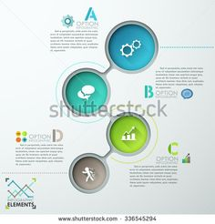 Abstract infographics template design with numbered circles - vector illustration. Business concept with four options, parts, steps or processes.