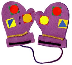 Toddler Activity - Mitten symmetry