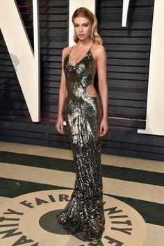 Stella Maxwell in Roberto Cavalli | Vanity Fair Oscar Party 2017