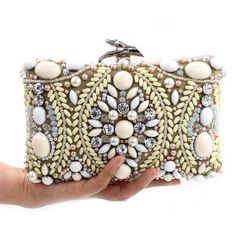 Bolsos de Señora de Embrague Noche Bolsa de Diamantes de lujo Bolsos de Embragues Del Día Bolsa de diamantes de Imitación Joya Con Cuentas de La Boda Desnuda Sac(China (Mainland))